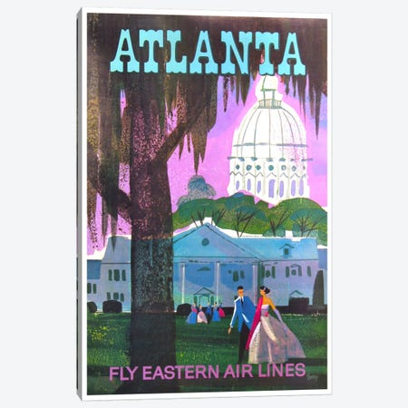 Atlanta - Fly Eastern Air Lines Canvas Print #LIV29} by Unknown Artist Canvas Art