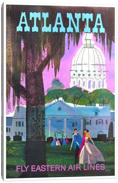 Atlanta - Fly Eastern Air Lines Canvas Art Print