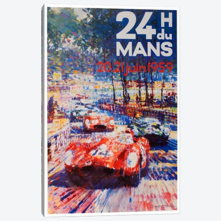24 Heures du Mans II Canvas Print #LIV2} by Unknown Artist Canvas Print