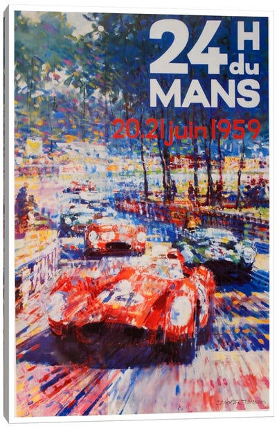 24 Heures du Mans II Canvas Art Print