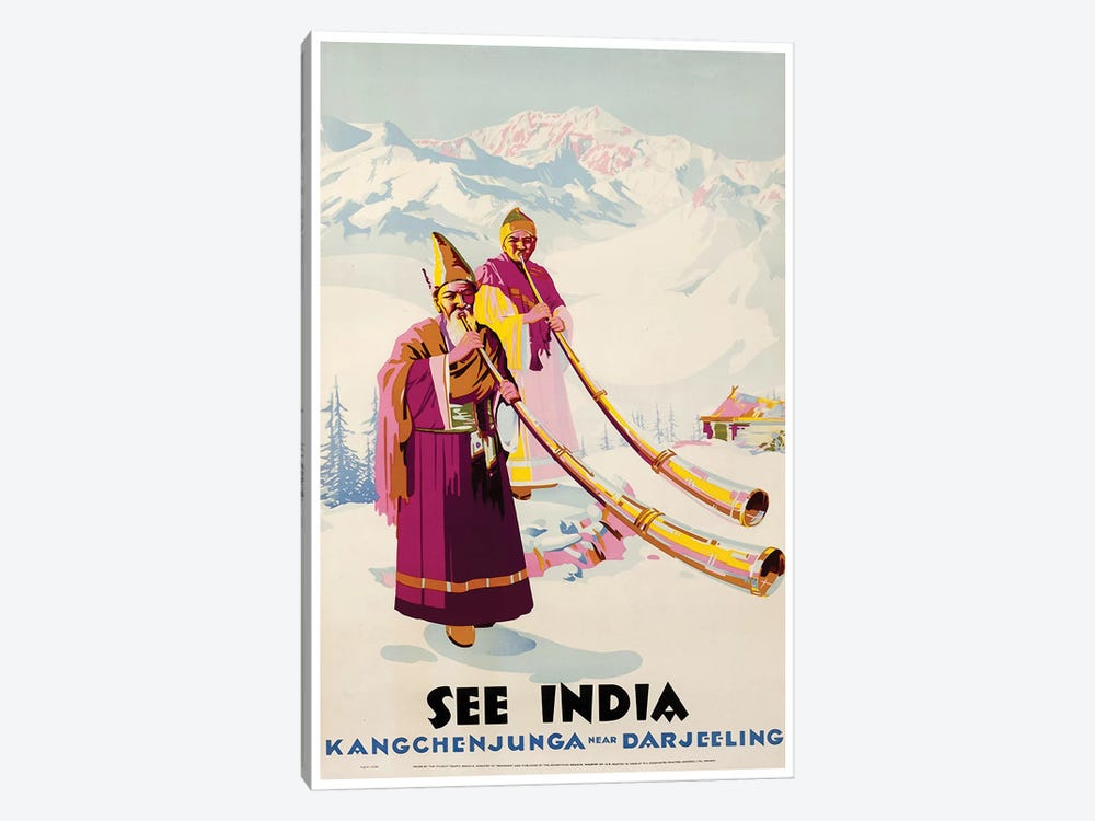See India: Kangchenjunga Near Darjeeling by Unknown Artist 1-piece Art Print