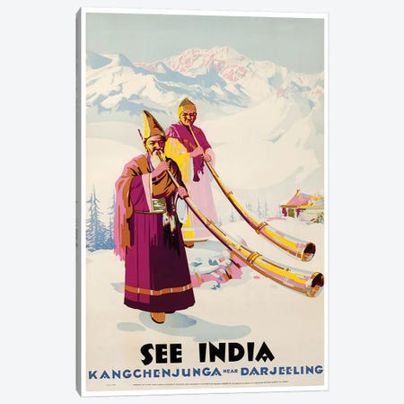 See India: Kangchenjunga Near Darjeeling Canvas Print #LIV302} by Unknown Artist Canvas Print