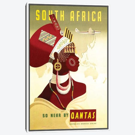 South Africa - So Near By Qantas Canvas Print #LIV309} by Unknown Artist Art Print