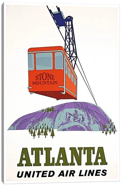 Atlanta, Stone Mountain - United Airlines Canvas Art Print