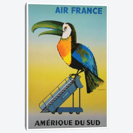 South America - Air France Canvas Print #LIV311} by Unknown Artist Canvas Wall Art