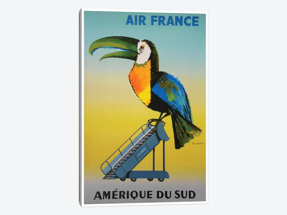 South America - Air France by Unknown Artist 1-piece Canvas Art Print