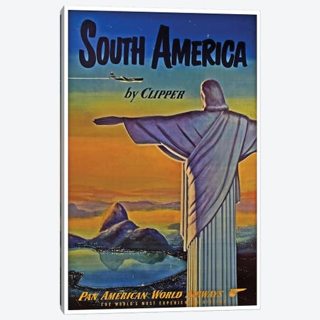 South America - By Clipper I Canvas Print #LIV312} by Unknown Artist Canvas Art