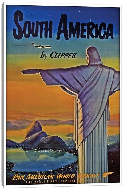 South America - By Clipper I Canvas Print #LIV312