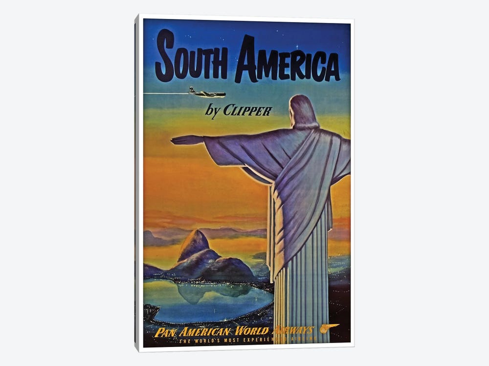 South America - By Clipper I 1-piece Canvas Art