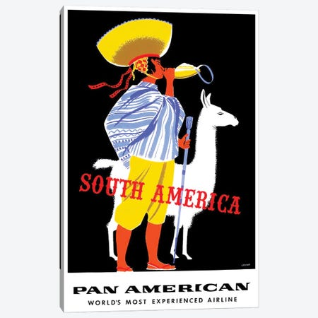 South America - Pan American Canvas Print #LIV314} by Unknown Artist Art Print