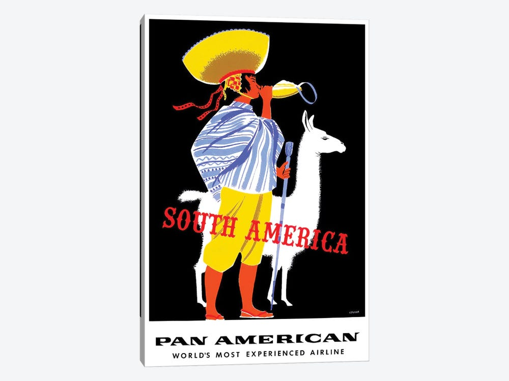 South America - Pan American by Unknown Artist 1-piece Canvas Artwork
