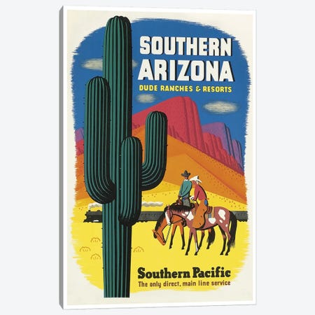Southern Arizona: Dude Ranches & Resorts - Southern Pacific Canvas Print #LIV315} by Unknown Artist Canvas Print