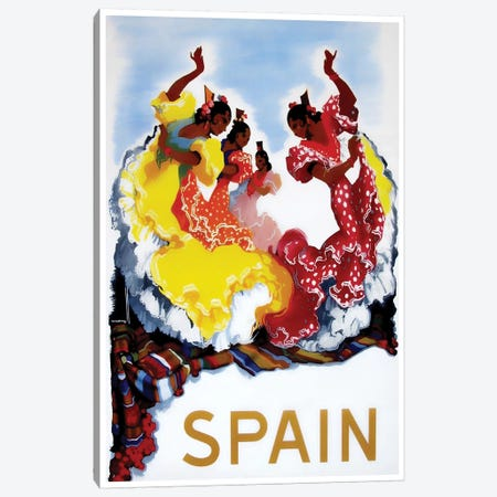 Spain I Canvas Print #LIV318} by Unknown Artist Canvas Artwork
