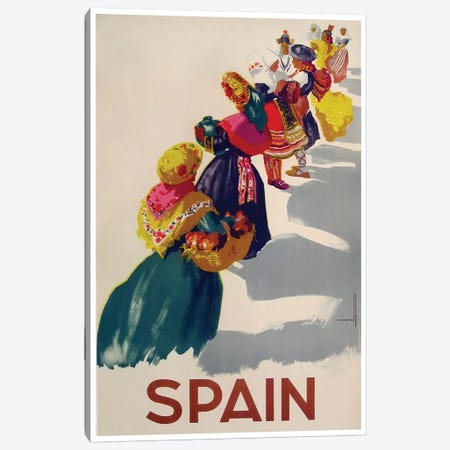 Spain II Canvas Print #LIV319} by Unknown Artist Canvas Artwork