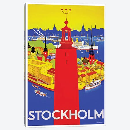 Stockholm Canvas Print #LIV322} Canvas Art Print