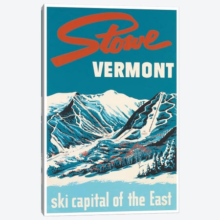Stowe, Vermont: Ski Capital Of The East Canvas Print #LIV324} by Unknown Artist Canvas Artwork