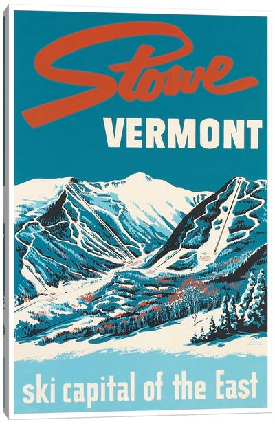Stowe, Vermont: Ski Capital Of The East Canvas Art Print