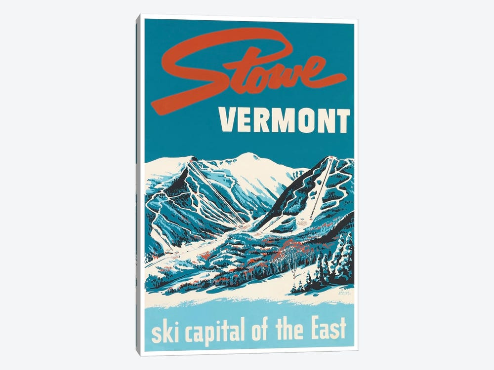 Stowe, Vermont: Ski Capital Of The East by Unknown Artist 1-piece Canvas Art Print