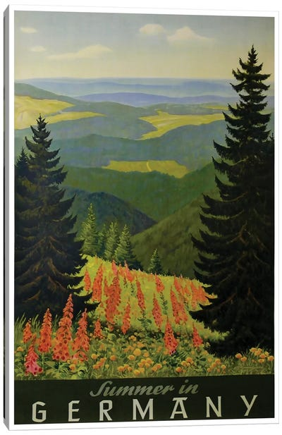 Summer In Germany Canvas Art Print
