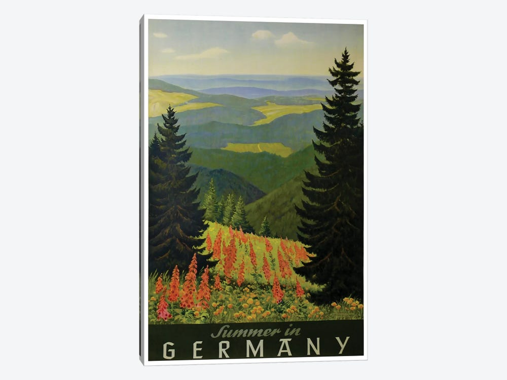 Summer In Germany by Unknown Artist 1-piece Canvas Art