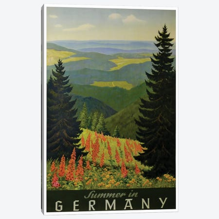 Summer In Germany Canvas Print #LIV325} by Unknown Artist Canvas Wall Art