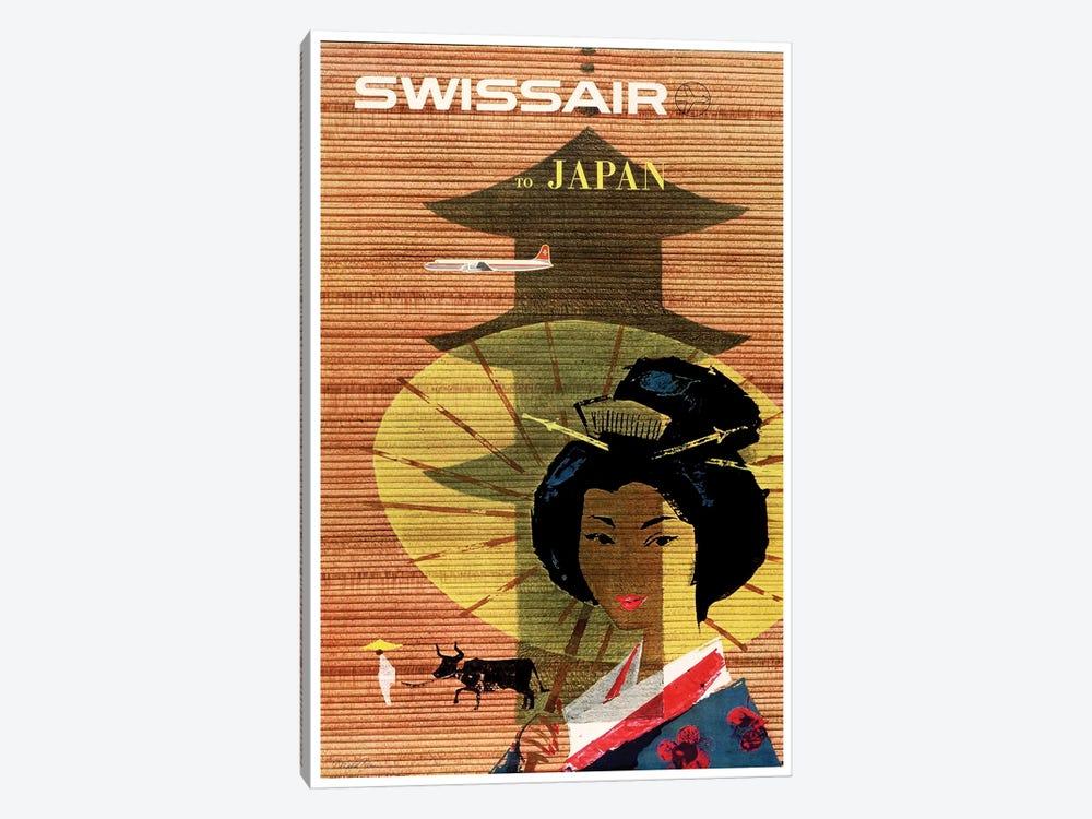 Swissair To Japan by Unknown Artist 1-piece Canvas Art Print