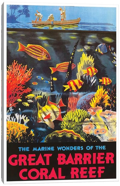The Marine Wonders Of The Great Barrier Coral Reef Canvas Print #LIV334