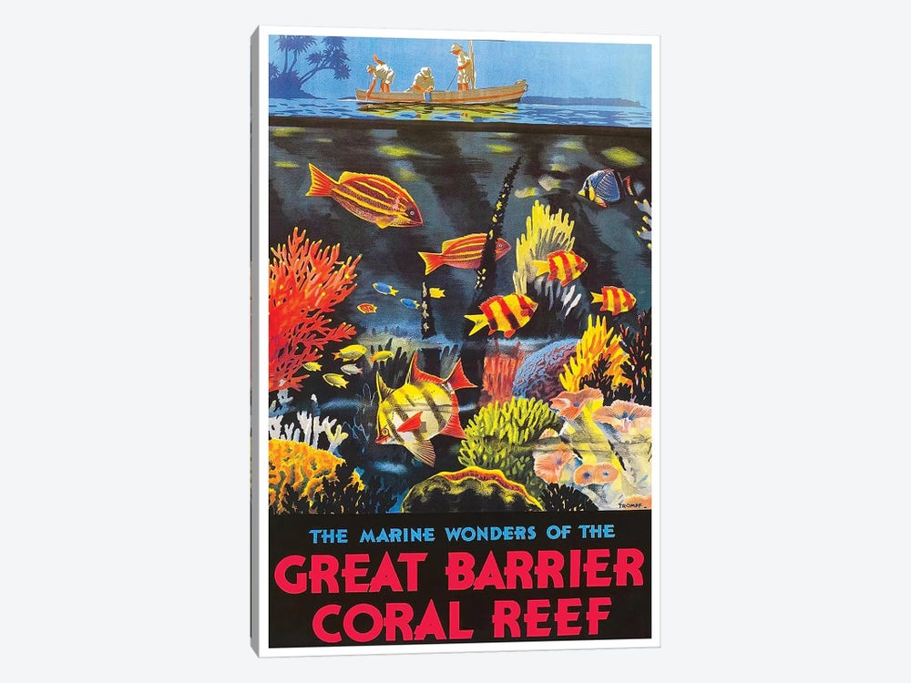 The Marine Wonders Of The Great Barrier Coral Reef by Unknown Artist 1-piece Canvas Wall Art