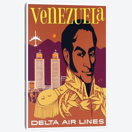 Venezuela - Delta Air Lines Canvas Print #LIV340} by Unknown Artist Canvas Print