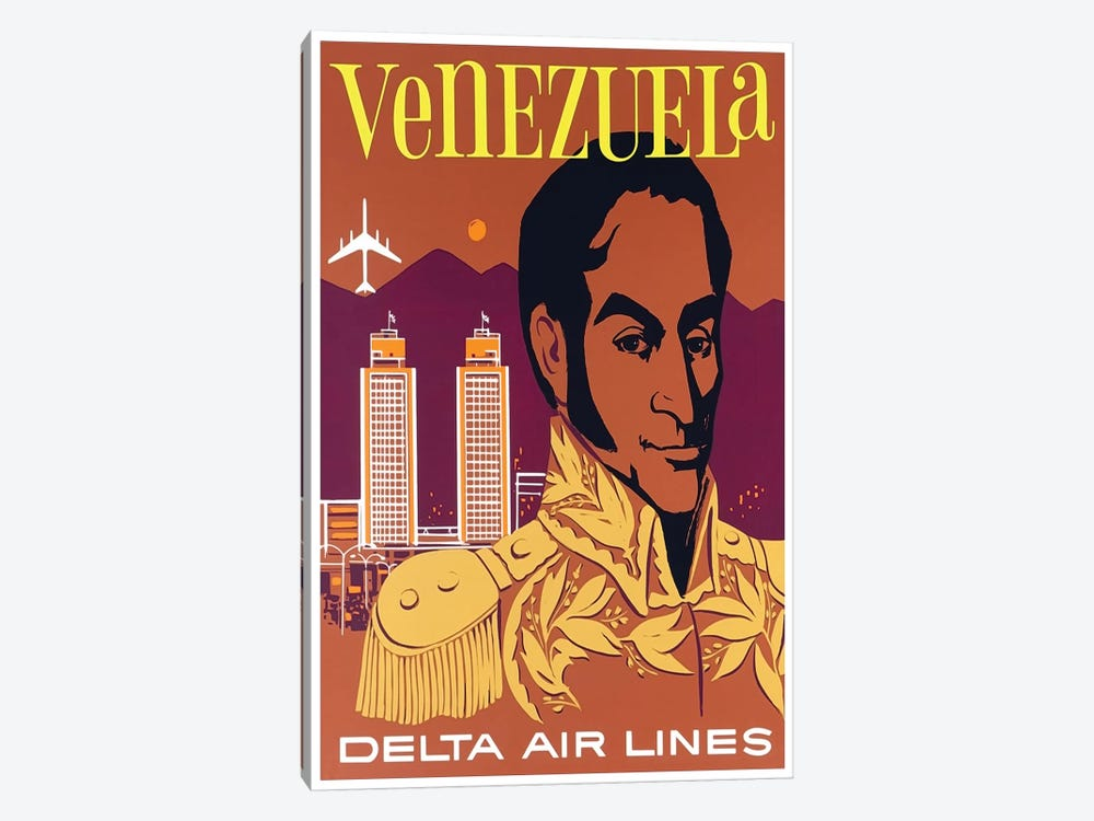 Venezuela - Delta Air Lines by Unknown Artist 1-piece Canvas Art Print