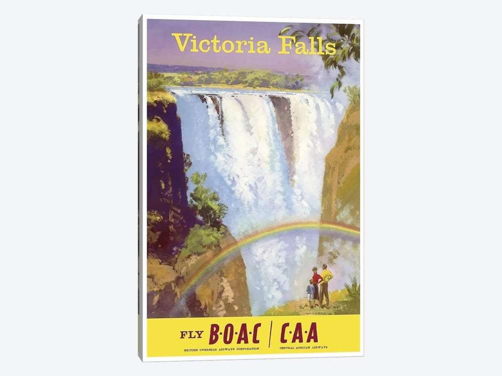 Victoria Falls - Fly BOAC/CAA by Unknown Artist 1-piece Art Print