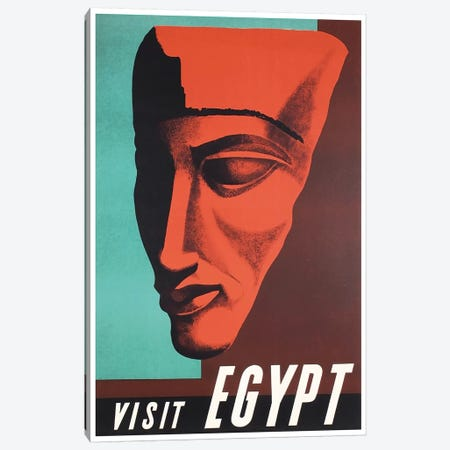 Visit Egypt Canvas Print #LIV347} by Unknown Artist Canvas Artwork