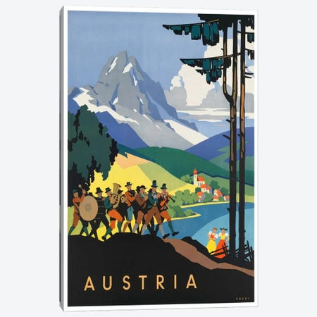 Austria: Music Canvas Print #LIV34} by Unknown Artist Canvas Wall Art