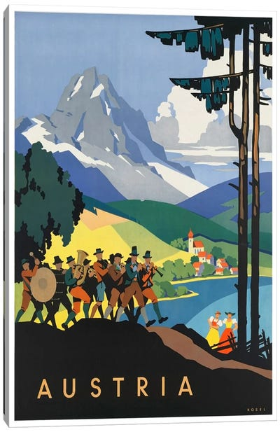 Austria: Music Canvas Art Print
