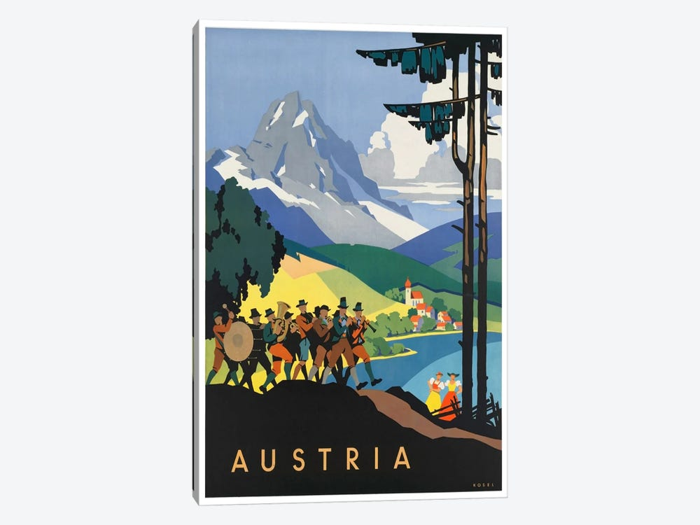 Austria: Music 1-piece Canvas Print