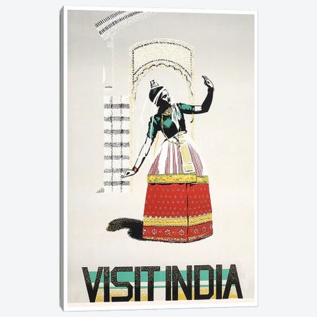 Visit India: Dancing Canvas Print #LIV350} by Unknown Artist Canvas Artwork