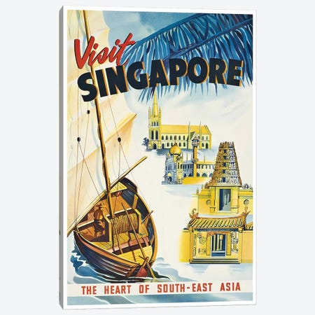 Visit Singapore: The Heart Of Southeast Asia Canvas Print #LIV356} by Unknown Artist Canvas Print
