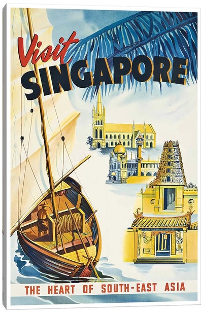 Visit Singapore: The Heart Of Southeast Asia Canvas Art Print
