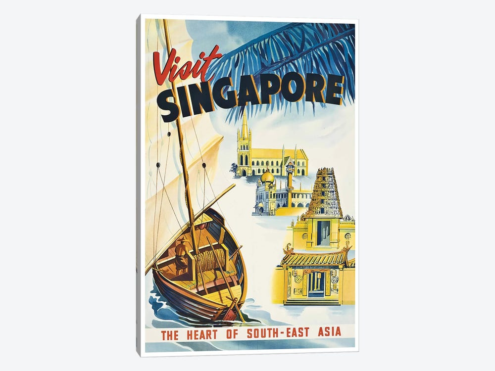 Visit Singapore: The Heart Of Southeast Asia by Unknown Artist 1-piece Canvas Art