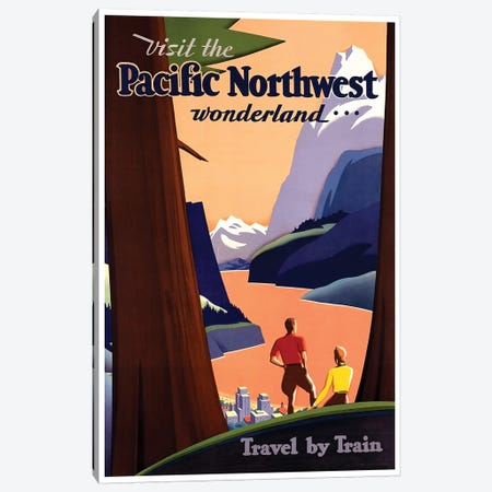 Visit The Pacific Northwest Wonderland Canvas Print #LIV357} by Unknown Artist Canvas Print