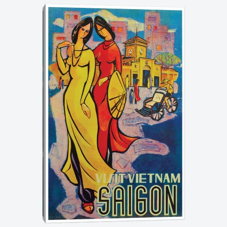 Visit Vietnam: Saigon Canvas Print #LIV358} by Unknown Artist Canvas Wall Art