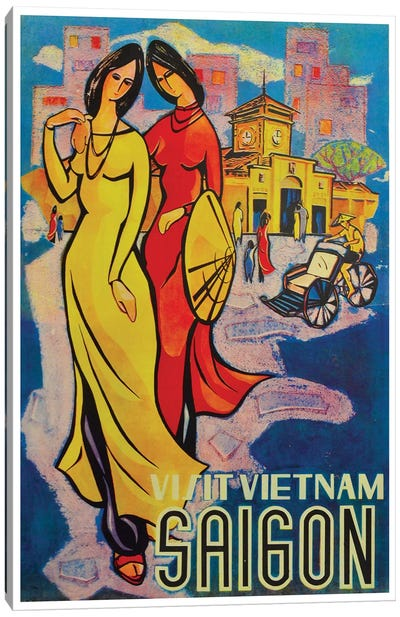 Visit Vietnam: Saigon Canvas Art Print