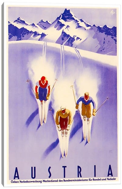 Austria: Skiing Canvas Art Print