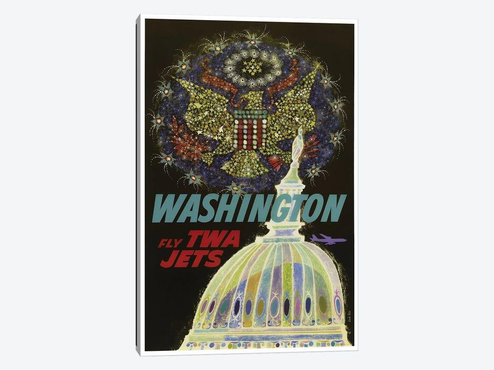 Washington - Fly TWA by Unknown Artist 1-piece Canvas Art Print