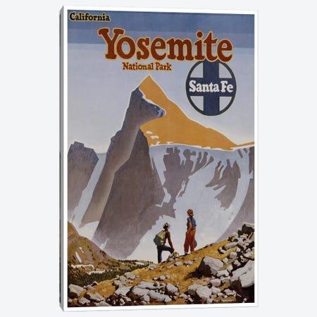 Yosemite National Park - Santa Fe Railway Canvas Print #LIV367} by Unknown Artist Canvas Wall Art