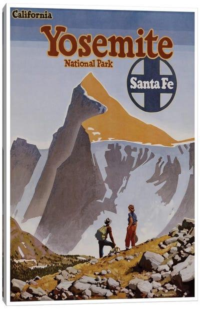 Yosemite National Park - Santa Fe Railway Canvas Print #LIV367