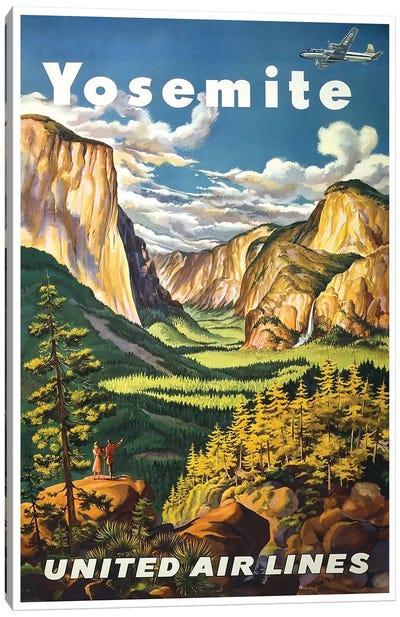 Yosemite National Park - United Airlines Canvas Print #LIV369