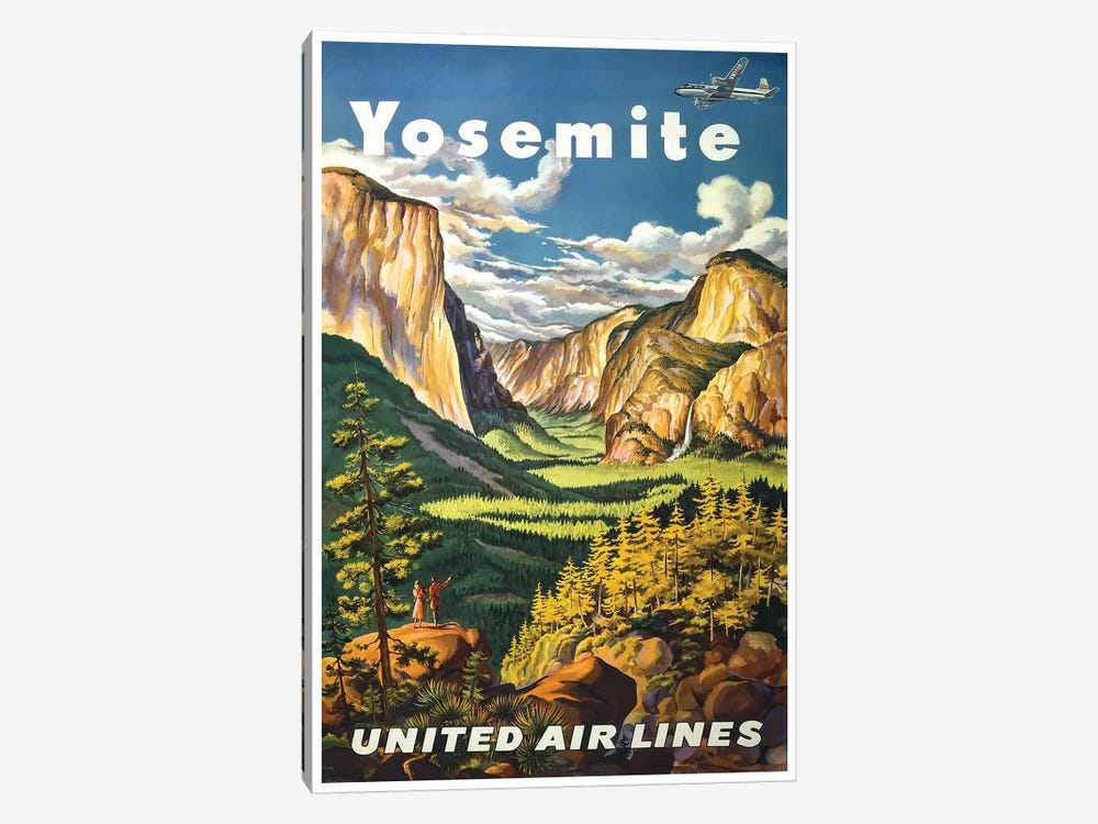 Yosemite National Park - United Airlines by Unknown Artist 1-piece Canvas Art