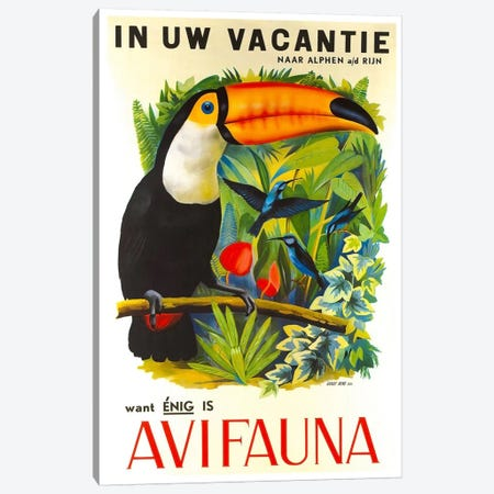 Avi Fauna Canvas Print #LIV36} Canvas Art