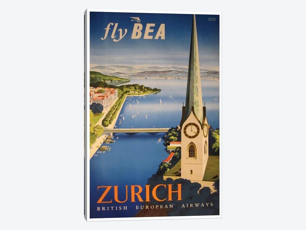 Zurich - Fly BEA, British European Airways by Unknown Artist 1-piece Canvas Artwork
